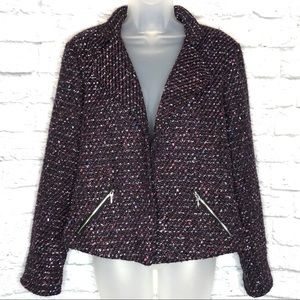 Chico's Sparkle Tweed Jacket
